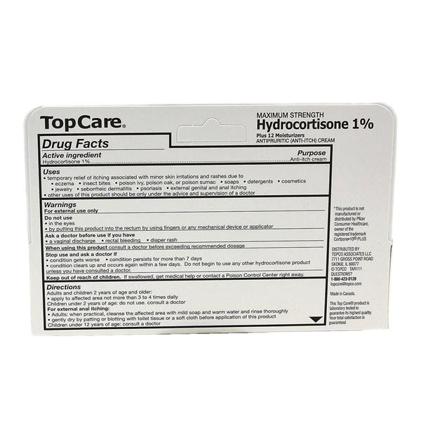 TopCare Hydrocortisone 1% Plus 12 Moisturizers Cream